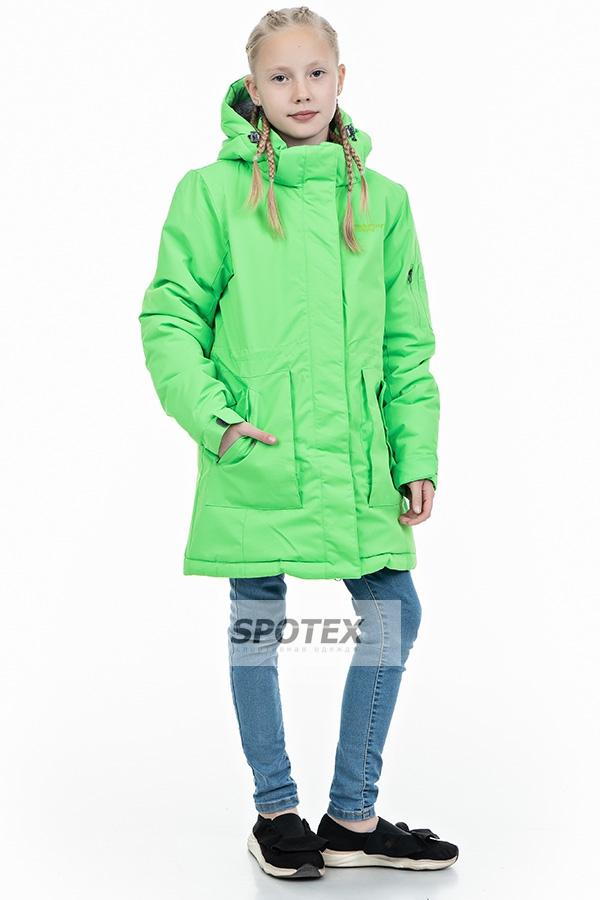 Куртка-парка  для девочки зимняя KALBORN  K-011-696 зеленое яблоко